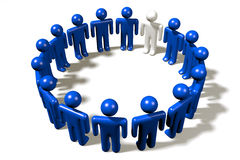 3D human-like-characters, people, circle, teamwork Stock Photo