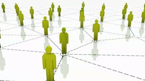 3D Human Network Animation YELLOW stock footage