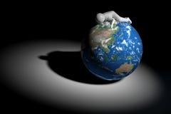 3D human sleeps on Earth - Asia Oceania edition.  Stock Photo