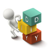 3d human and word DIY cubes Stock Images