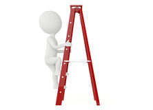 3d humanoid character up a ladder Royalty Free Stock Photography
