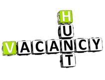 3D Hunt Vacancy Crossword Fotografie Stock