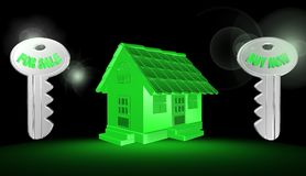 3d hus, illustration Arkivbild