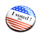 2016 3d I Voted Button Stock Photos