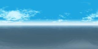 D3ia inconsútil del panorama del cielo 360 y del mar libre illustration