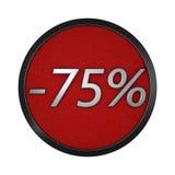 ` D'icône de remise - ` de 75% Illustration graphique d'isolement rendu 3d Image stock