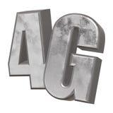3D icône en métal 4G sur le blanc Image stock