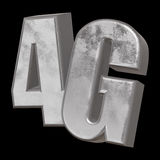 3D icône en métal 4G sur le noir Photo stock