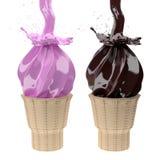 3d ice cream. Stock Image