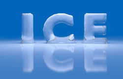 3D ice text Stock Photography