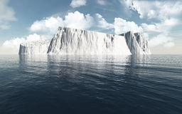 3D icebergs in the ocean Stock Images
