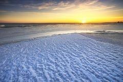 3 d ices zwiększenia wytapiania krajobrazu planety dziki Zdjęcia Stock
