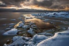 3 d ices zwiększenia wytapiania krajobrazu planety dziki Fotografia Stock