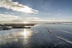 3 d ices zwiększenia wytapiania krajobrazu planety dziki Obrazy Royalty Free