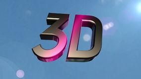 3d icon back clouds stock video footage