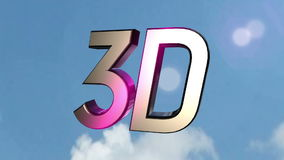 3d icon back clouds stock video