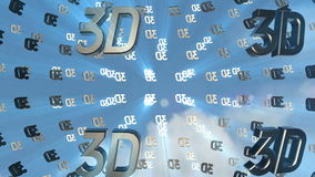 3d icon back clouds stock footage