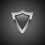 3D Icon bouclier internet security protection carbon Royalty Free Stock Images