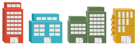 3D icon Buildings. Stock Photos