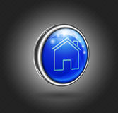3d icon, home Royalty Free Stock Images