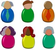 3d Icon People royalty free illustration