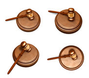3D Icon rods trial judge. 3D Icon Design Series. Royalty Free Stock Photo