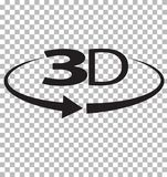 3D icon on transparent background. 3D sign. flat style Stock Photos