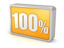 100% 3d icon on white background Royalty Free Stock Photos