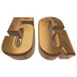 3D icona dell'oro 5G su bianco Immagini Stock Libere da Diritti