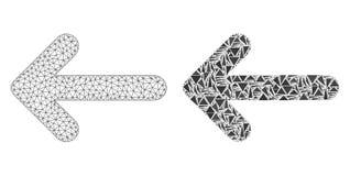 2D icona poligonale del mosaico e di Mesh Left Arrow illustrazione vettoriale