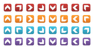 3D icons with arrows. Set of colored 3d icons with arrows Vector Illustration