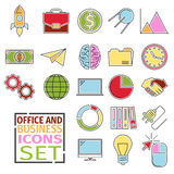 D Icons office Royalty Free Stock Photography