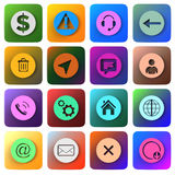 3d icons. Set of 3d icons of different colors Royalty Free Stock Images
