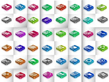 3d icons Set. Set of 3d icons for mobile app and web Royalty Free Stock Images