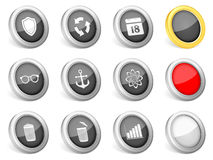 3d icons set Stock Photo