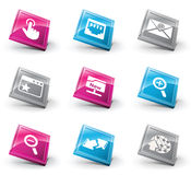 3D icons Stock Photography