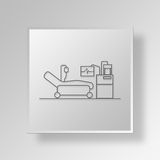 3D ICU Button Icon Concept Royalty Free Stock Image