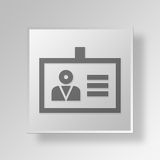 3D ID badge Button Icon Concept Royalty Free Stock Photography