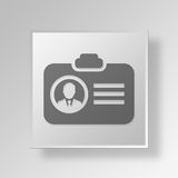 3D id Button Icon Concept. 3D Symbol Gray Square id Button Icon Concept Stock Photography