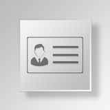 3D id card Button Icon Concept Royalty Free Stock Image