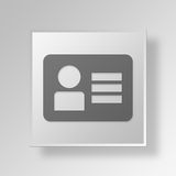 3D id card Button Icon Concept Stock Photography