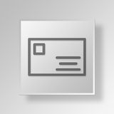 3D id card Button Icon Concept. 3D Symbol Gray Square id card Button Icon Concept Royalty Free Stock Image