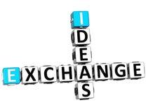 3D Ideas Exchange Crossword Royalty Free Stock Image