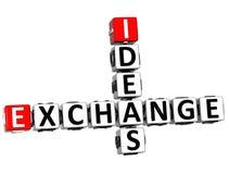3D Ideas Exchange Crossword. On white background Royalty Free Stock Photo
