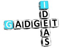 3D Ideas Gadget text Crossword. Over white background Royalty Free Stock Image