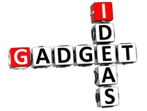 3D Ideas Gadget text Crossword. Over white background Stock Photos