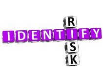 3D Identify Risk Crossword Royalty Free Stock Photos