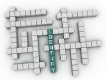 3d Identify word cloud concept Stock Images