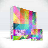 3D Identity box with abstract colorful pattern Stock Photo