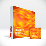 3D Identity box with abstract fire lines cover. 3D Identity packaging box with abstract fire lines cover Stock Photos